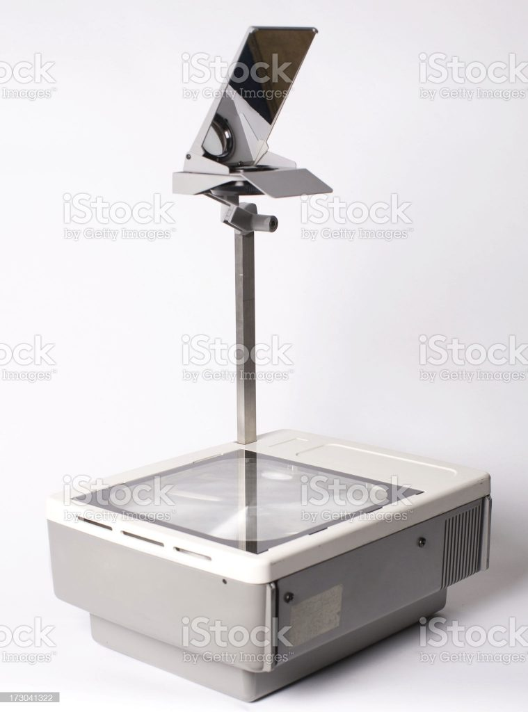 Old overhead projector.