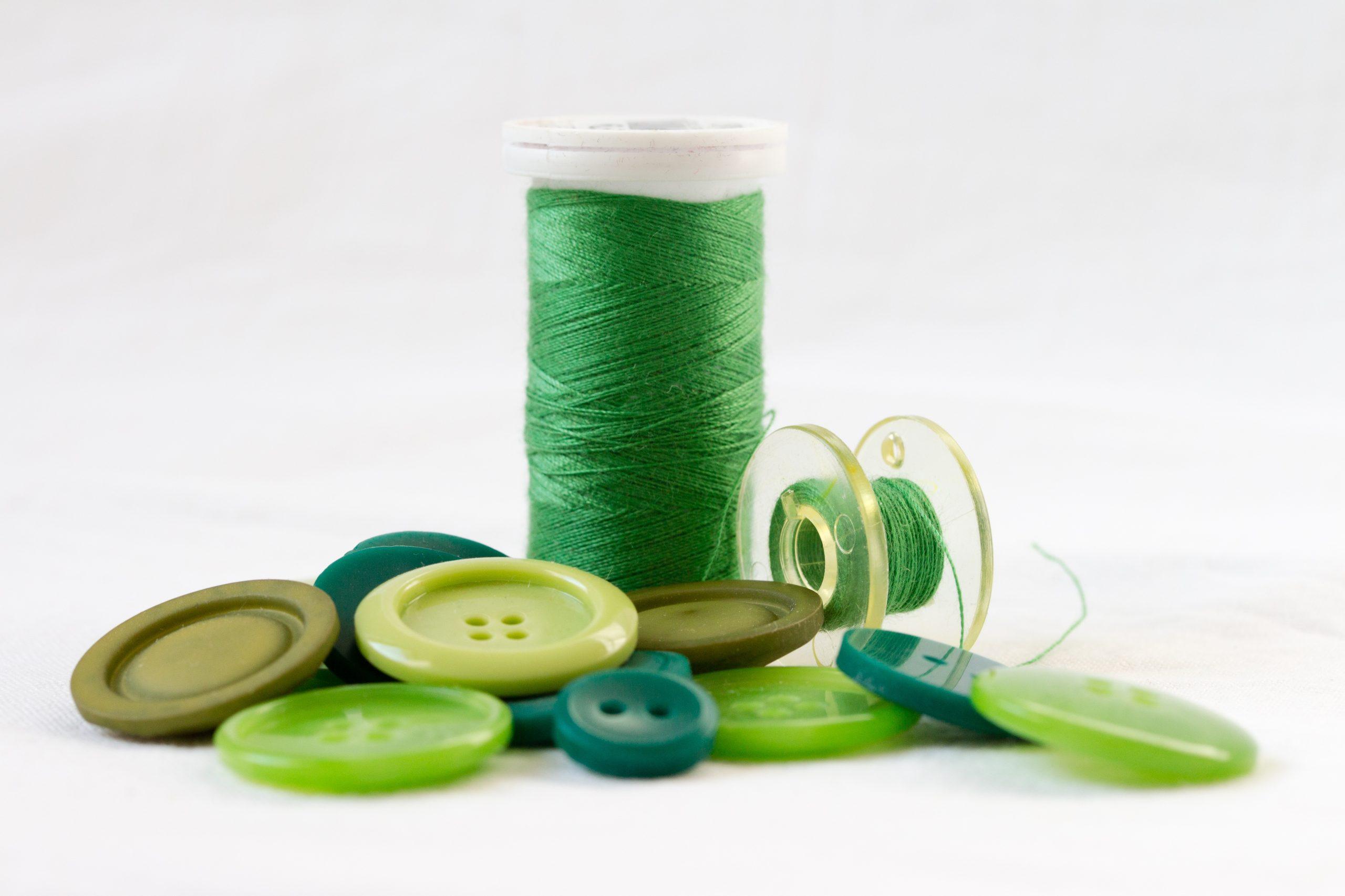 thread, green, orb